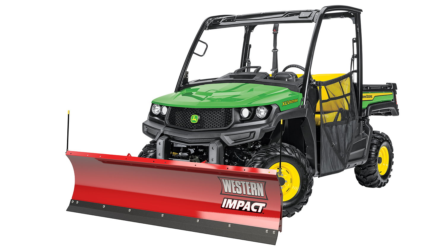 The new 1.82m Western Impact snow blade for the John Deere Gator
