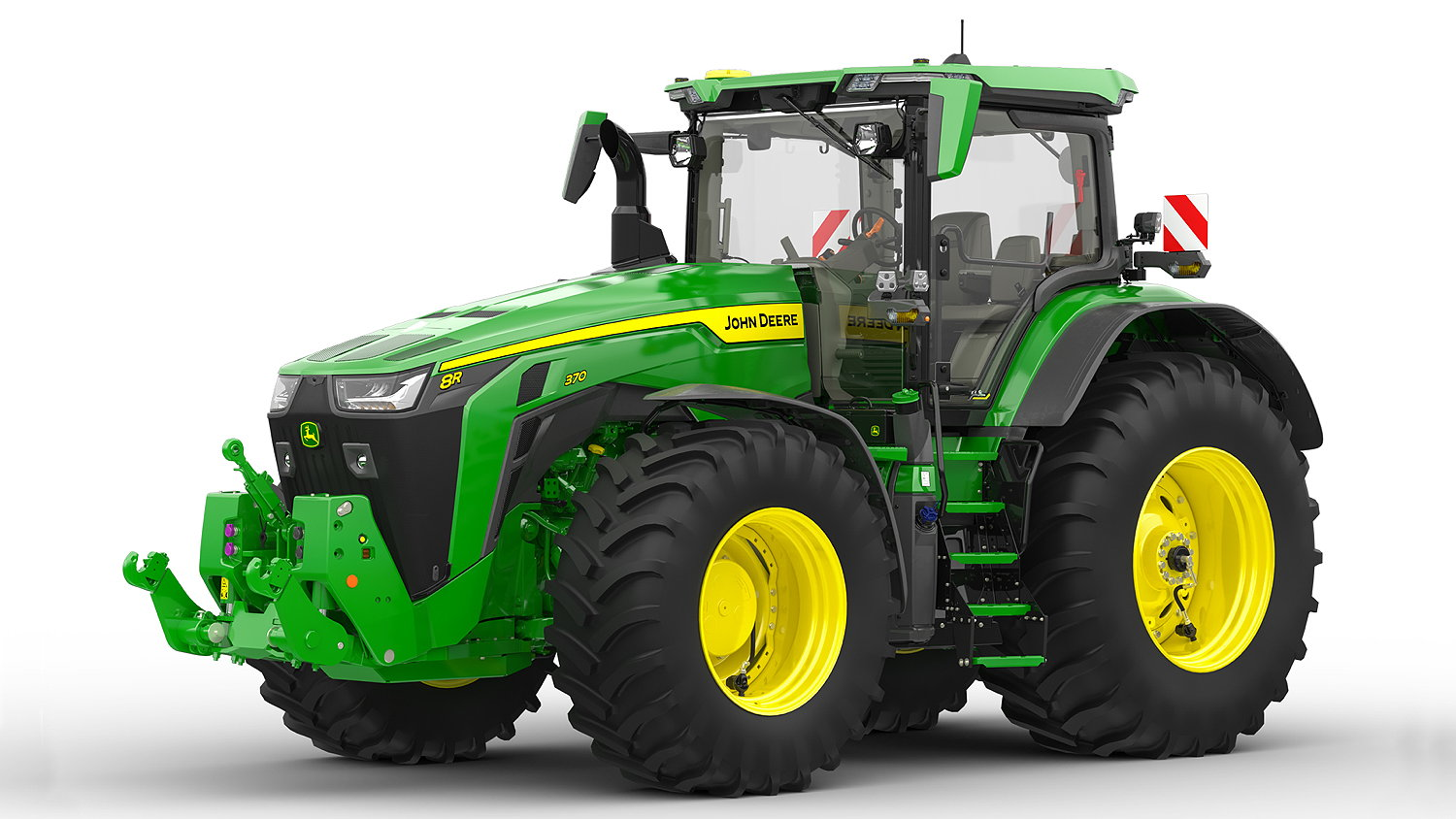 John Deere has launched a fully integrated tyre pressure control system for its 8R Series tractors