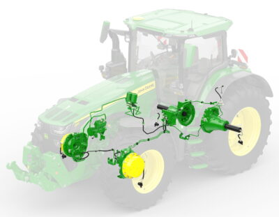 The new CTIS can be easily adjusted using the John Deere 8R's CommandCenter display