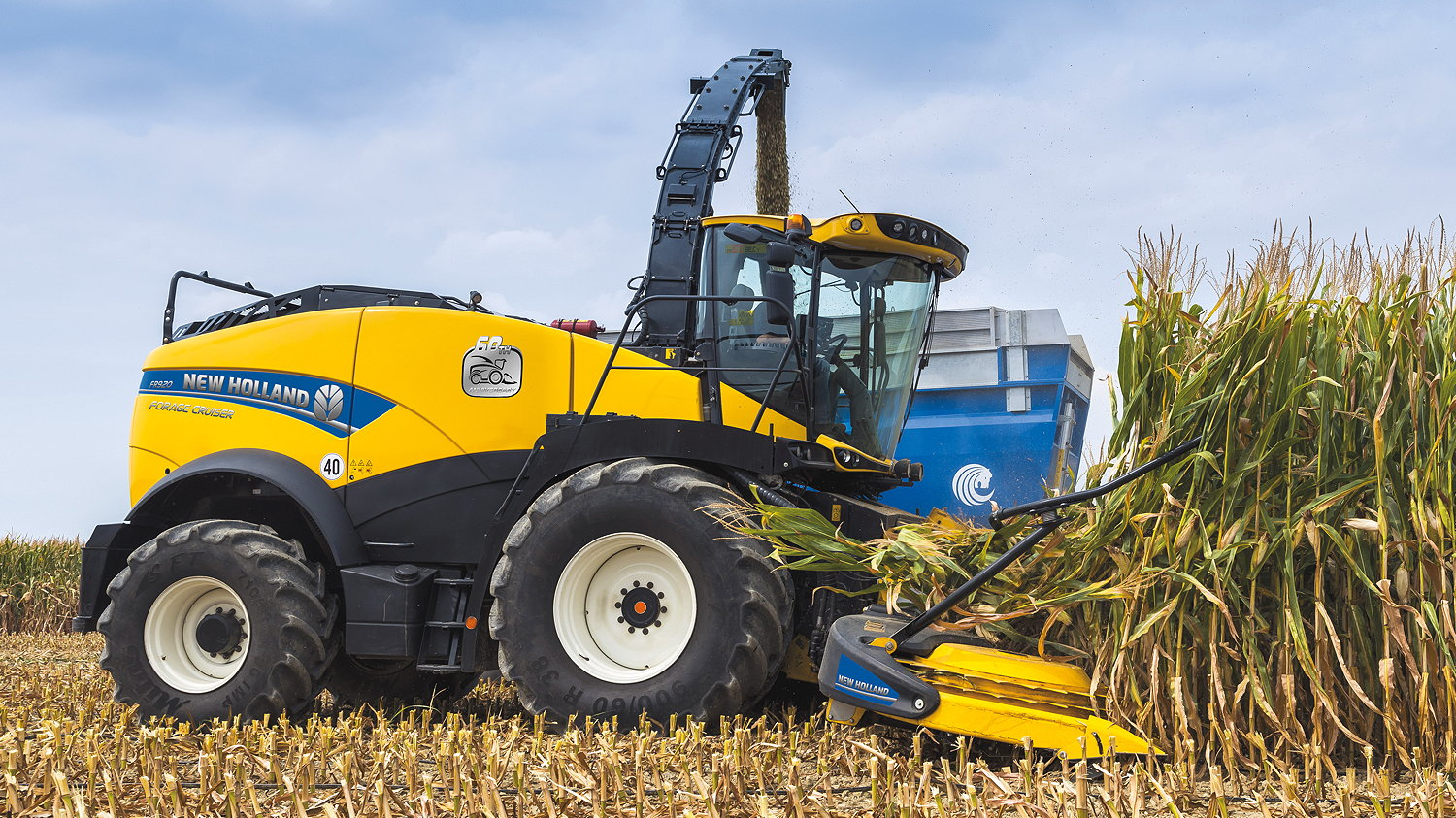 New Holland is marking the 60th anniversary of its first forage harvester with this special edition model