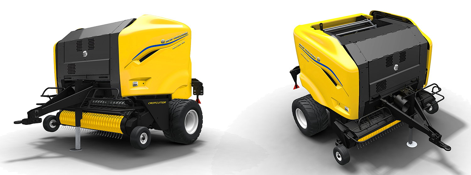 Available in Rotor Feeder and Rotor Cutter versions, the new Roll Baler 125 baler introduces a new, modern styling