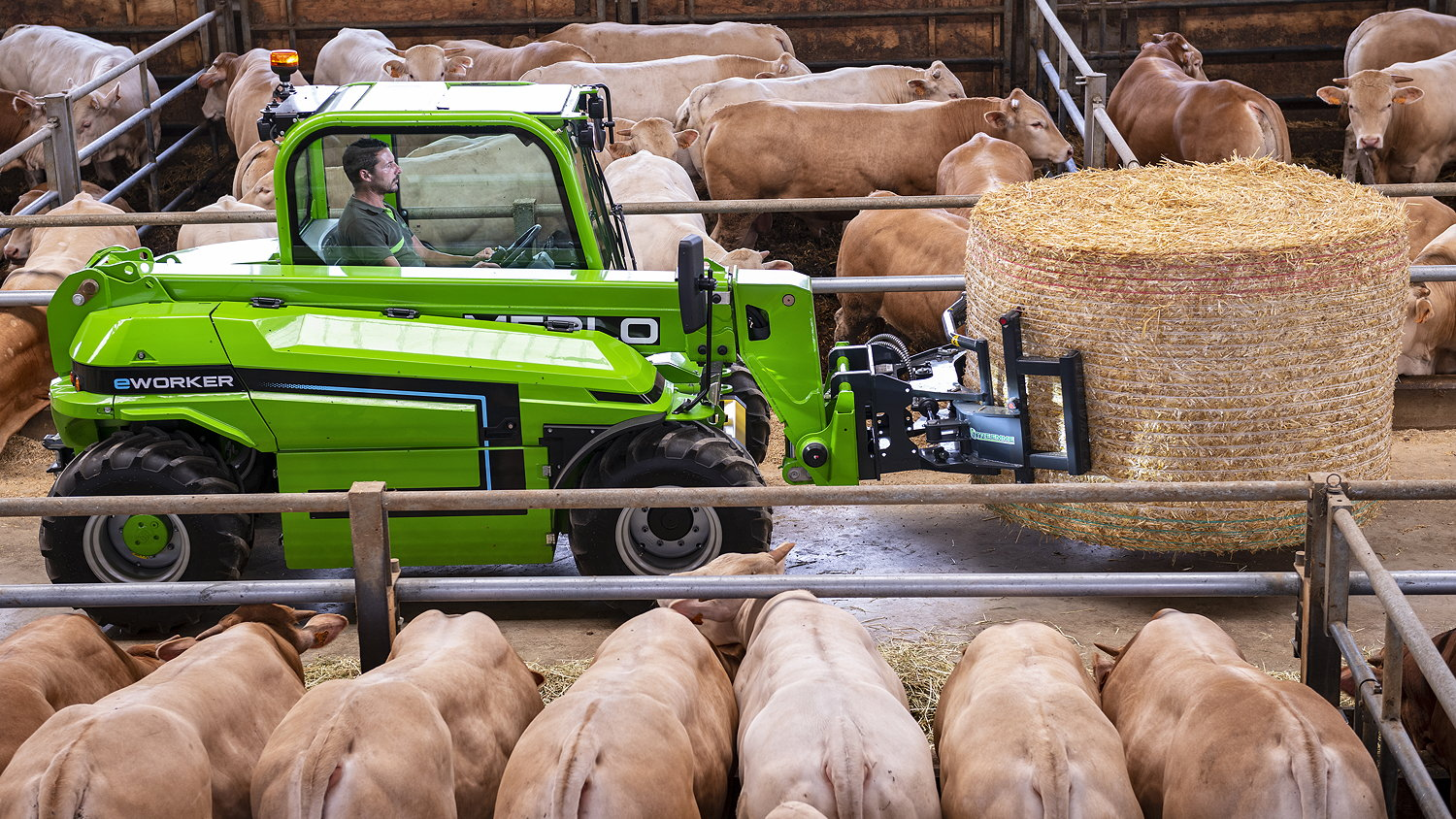 Merlo's new E-worker telehandler is available in Agri format